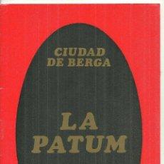 Folhetos de turismo: 4019.- BERGA - PATUM 1968 - CORPUS - PROGRAMA. Lote 210550228