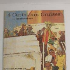 Folletos de turismo: FOLLETO TURÍSTICO DE CRUCERO CARIBBEAN CRUISES 1964. Lote 210551561