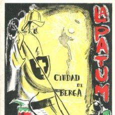 Folhetos de turismo: 4019.- CIUDAD DE BERGA -LA PATUM CORPUS DE 1956 - PROGRAMA. Lote 210574745