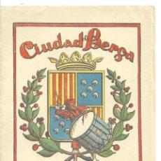 Folhetos de turismo: 4019.- CIUDAD DE BERGA -LA PATUM CORPUS DE 1951 - PROGRAMA. Lote 210574863