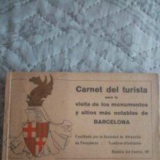 Folletos de turismo: CARNET DE TURISTA CON 20 TIQUETS DE VISIYA AÑOS 30. Lote 212006088