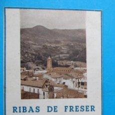 Folletos de turismo: RIBAS DE FRESER. FIESTA MAYOR. PROGRAMA OFICIAL, 1947. XIQUETS DE VALLS.. Lote 212014753