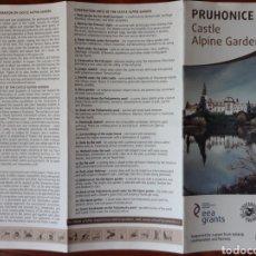 Folletos de turismo: FOLLETO PRUHONICE PARK CASTILLO ALPINE GARDEN. Lote 212014758