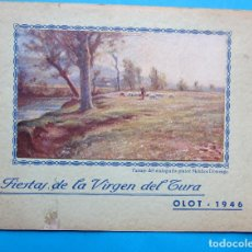 Folletos de turismo: FIESTAS DE LA VIRGEN DEL TURA. OLOT, 1946.. Lote 212016206