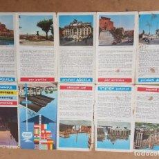 Folletos de turismo: BENVENUTI A ROMA PRODOTTI AQUILA 1960 PLANO, MAPA, MAP, CARTE. Lote 212040650