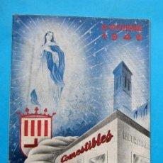 Folletos de turismo: FIESTA PATRONÍMICA. GREMIO DE DETALLISTAS DE COMESTIBLES Y SIMILARES. MANRESA, 1949... Lote 212117430