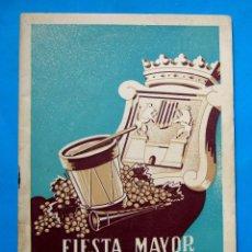 Folletos de turismo: FIESTA MAYOR DE VILLAFRANCA DEL PANADES, 1946. PROVINCIA DE BARCELONA.. Lote 212146783