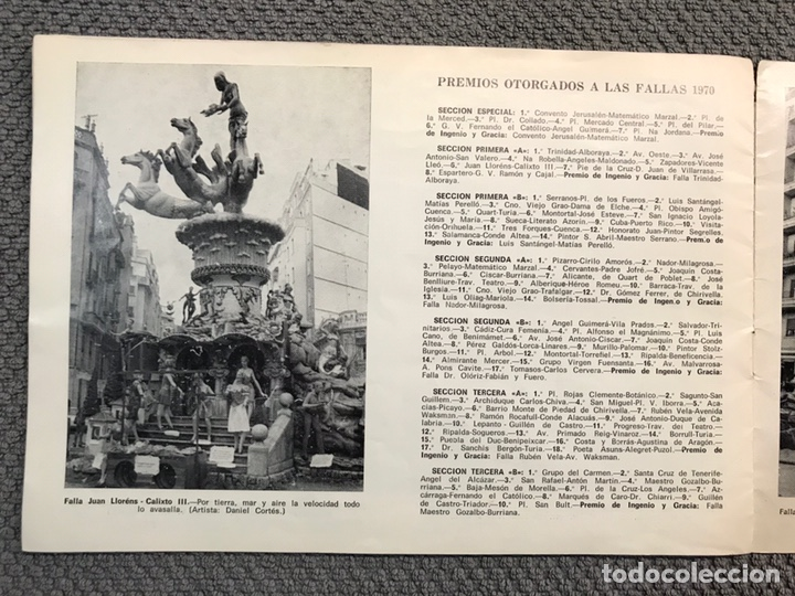 Folletos de turismo: FALLAS VALENCIA. ALBUM GUIA, Bayarri, 40 fotografias Fallas (Marzo de 1970) - Foto 18 - 212289033
