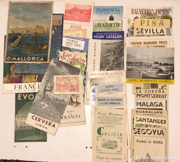 30 FOLLETOS TURISMO DE VIAJES VARIOS (Coleccionismo - Folletos de Turismo)