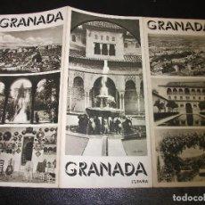 Brochures de tourisme: GRANADA FOLLETO DE TURISMO ANTIGUO TRIPTICO. Lote 213176418