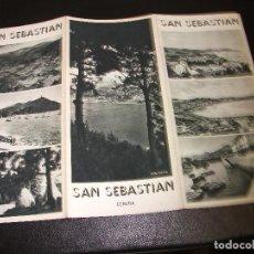 Folletos de turismo: SAN SEBASTIAN FOLLETO DE TURISMO ANTIGUO TRIPTICO. Lote 213178213