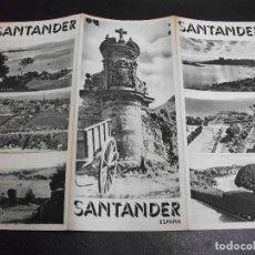 Folletos de turismo: SANTANDER FOLLETO DE TURISMO ANTIGUO TRIPTICO. Lote 213179291