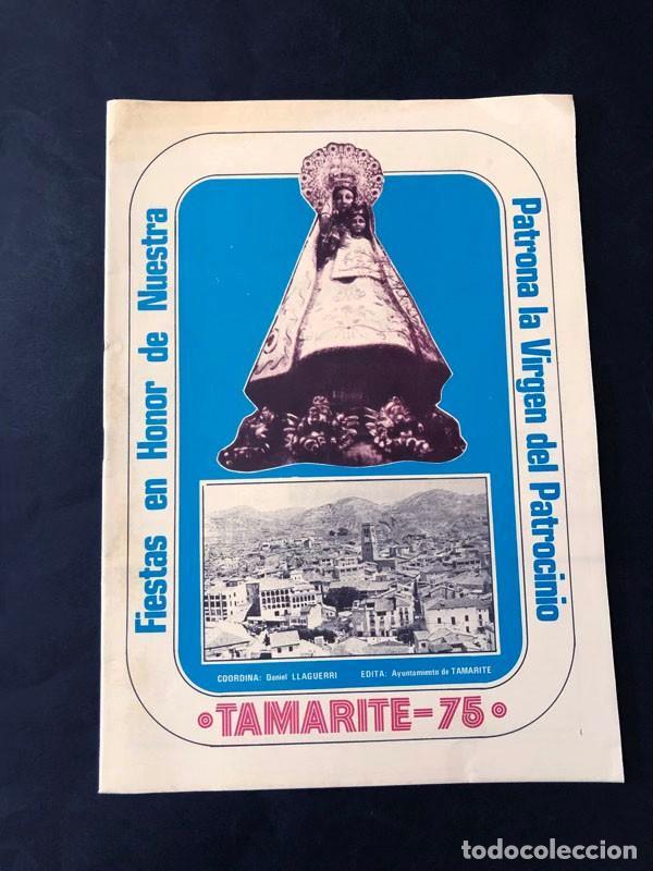 TAMARITE DE LITERA / PROGRAMA DE FIESTAS AÑO 1975 / VIRGEN DEL PATROCINIO / HUESCA (Coleccionismo - Folletos de Turismo)