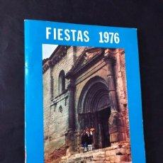 Folletos de turismo: TAMARITE DE LITERA / PROGRAMA DE FIESTAS AÑO 1976 / VIRGEN DEL PATROCINIO / HUESCA. Lote 213753236