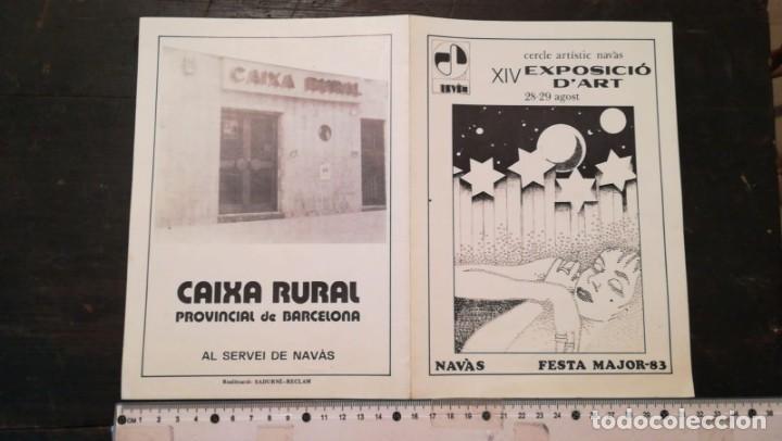 FOLLETO XIV EXPSICIÓ D`ART NAVÀS (Coleccionismo - Folletos de Turismo)