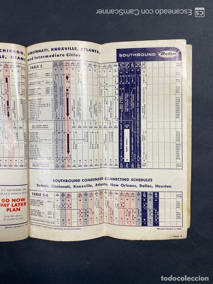 Folletos de turismo: DELTA AIR LINES. ROYAL SERVICE FLIGHTS. INFORMACION DE VUELOS. 1958. - Foto 7 - 213767827