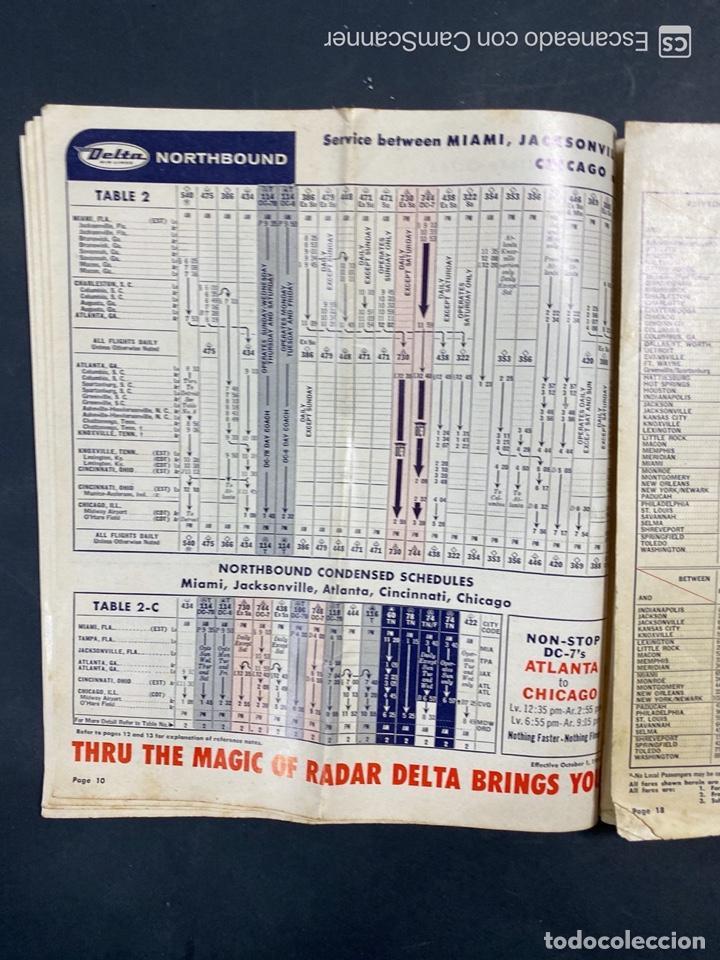 Folletos de turismo: DELTA AIR LINES. ROYAL SERVICE FLIGHTS. INFORMACION DE VUELOS. 1958. - Foto 8 - 213767827