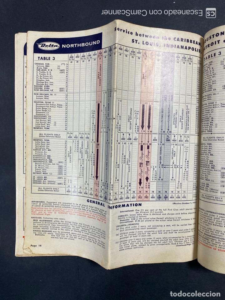 Folletos de turismo: DELTA AIR LINES. ROYAL SERVICE FLIGHTS. INFORMACION DE VUELOS. 1958. - Foto 12 - 213767827