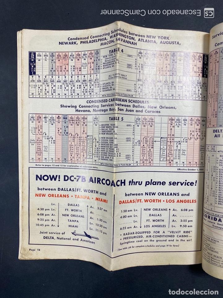 Folletos de turismo: DELTA AIR LINES. ROYAL SERVICE FLIGHTS. INFORMACION DE VUELOS. 1958. - Foto 14 - 213767827