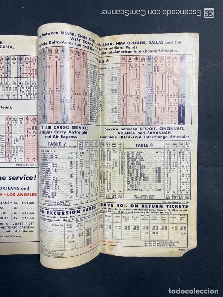 Folletos de turismo: DELTA AIR LINES. ROYAL SERVICE FLIGHTS. INFORMACION DE VUELOS. 1958. - Foto 15 - 213767827