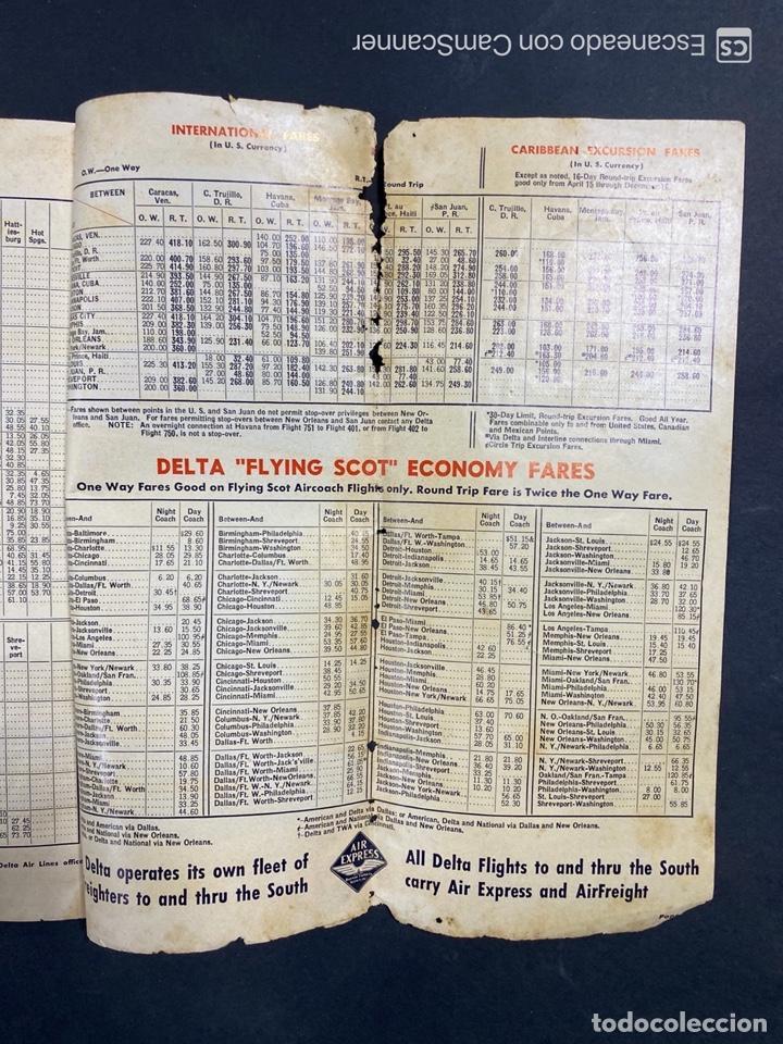 Folletos de turismo: DELTA AIR LINES. ROYAL SERVICE FLIGHTS. INFORMACION DE VUELOS. 1958. - Foto 17 - 213767827