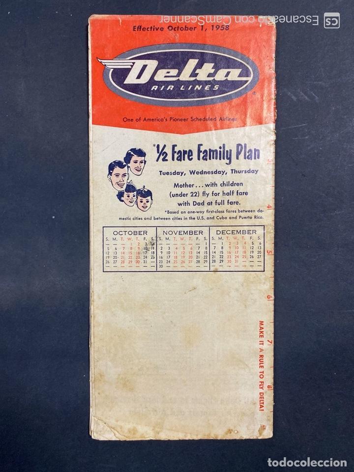 Folletos de turismo: DELTA AIR LINES. ROYAL SERVICE FLIGHTS. INFORMACION DE VUELOS. 1958. - Foto 19 - 213767827