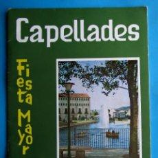 Folletos de turismo: CAPELLADES PROGRAMA OFICIAL FIESTA MAYOR, 1968 .. Lote 213780767