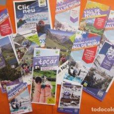 Folletos de turismo: IMPRESIONANTE LOTE FOLLETOS NURIA - FERROCARRIL GENERALITAT CREMALLERA FUNICULAR LA MOLINA PIRINEO. Lote 213863617