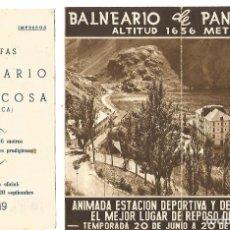 Folletos de turismo: ANTIGUO FOLLETO BALNEARIO DE PANTICOSA HUESCA Y TARIFAS PARA AÑO 1949 HUECOGRABADO FOURNIER. Lote 213950773