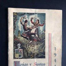 Folletos de turismo: BINEFAR AÑO 1944 / PROGRAMA DE FIESTAS / 48 PAGINAS / HUESCA / POST GUERRA CIVIL. Lote 214435802
