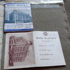 Brochures de tourisme: HOTEL MEDIODIA - FOLLETO LIBRITO 40 PAGINAS JUNTO CON TARJETA Nº HABITACION - EPOCA REPUBLICA. Lote 214529331