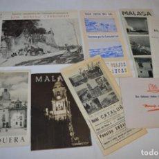 Folletos de turismo: MÁLAGA / LOTE VARIADOS DE FOLLETOS DE TURISMO Y OTROS DOCUMENTOS / AÑOS 50 - ¡MIRA FOTOS/DETALLES!. Lote 214985875