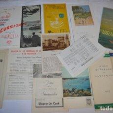 Folletos de turismo: SANTANDER / GRAN LOTE VARIADOS DE FOLLETOS DE TURISMO Y OTROS DOCUMENTOS / AÑOS 50 - ¡MIRA FOTOS!. Lote 215022720