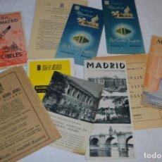 Folletos de turismo: MADRID / LOTE VARIADOS DE FOLLETOS DE TURISMO Y OTROS DOCUMENTOS / AÑOS 50 - ¡MIRA FOTOS!. Lote 215027115