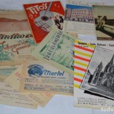 Folletos de turismo: MALLORCA / LOTE VARIADOS DE FOLLETOS DE TURISMO Y OTROS DOCUMENTOS / AÑOS 50 - ¡MIRA FOTOS!. Lote 215032781