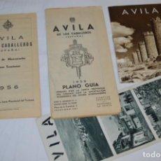 Folletos de turismo: ÁVILA / LOTE VARIADOS DE FOLLETOS DE TURISMO Y OTROS DOCUMENTOS / AÑOS 50 - ¡MIRA FOTOS!. Lote 215033371