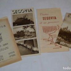 Folletos de turismo: SEGOVIA / LOTE VARIADOS DE FOLLETOS DE TURISMO Y OTROS DOCUMENTOS / AÑOS 50 - ¡MIRA FOTOS!. Lote 215034045