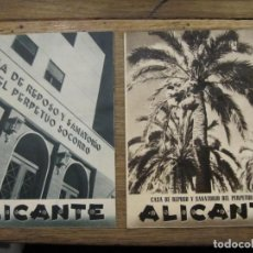 Foglietti di turismo: 2 FOLLETOS - CASA DE REPOSO Y SANATORIO DEL PERPETUO SOCORRO ALICANTE. Lote 217094452