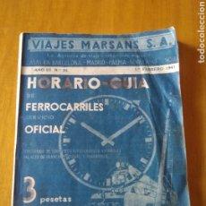 Brochures de tourisme: HORARIO GUÍA FERROCARRILES 1941. Lote 217519525