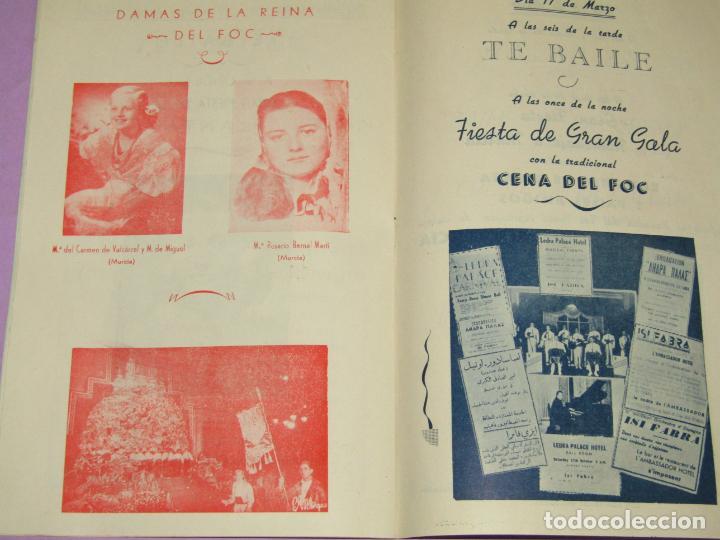 Folletos de turismo: Antiguo Llibret de Fallas de Valencia Falla PARADOR DEL FOC Regocijos y Jolgorios del Año 1958 - Foto 2 - 218116190