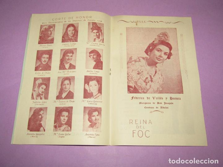 Folletos de turismo: Antiguo Llibret de Fallas de Valencia Falla PARADOR DEL FOC Regocijos y Jolgorios del Año 1958 - Foto 3 - 218116190