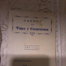 Foglietti di turismo: CARNET DE VIAJES Y EXCURSIONES 1953. Lote 218128522