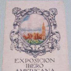 Folletos de turismo: PROGRAMA EXPOSICIÓN IBERO AMERICANA SEVILLA 1927.. Lote 218538713