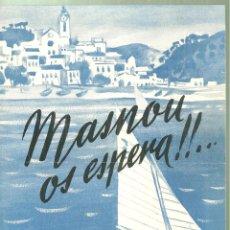 Brochures de tourisme: 3905.- MASNOU OS ESPERA - HOTEL COMODORO - DIPTICO PUBLICITARIO TURISTICO. Lote 221095756