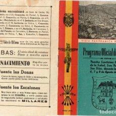 Foglietti di turismo: 1947 MILLARES PROGRAMA OFICIAL DE FIESTAS EN HONOR CRISTO DE LA SALUD, SAN ROQUE Y SAN BLAS 6,7,8 -8. Lote 221966570