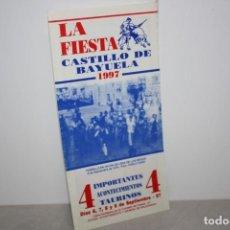 Folletos de turismo: PTROGRAMA DE FIESTAS DE CASTILLO DE BAYUELA. AÑO 1997. Lote 222218998