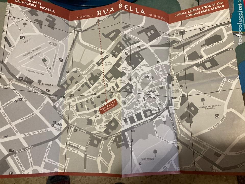 Folletos de turismo: Plano del centro de Santiago de Compostela, Editado por el Restaurante Rúa Bella - Foto 4 - 222291151
