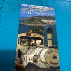Folletos de turismo: FOLLETO TREN TURÍSTICO SAN SEBASTIÁN. Lote 222292415