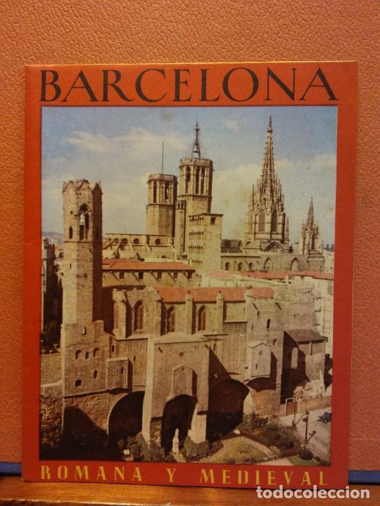 BARCELONA. ROMANA Y MEDIEVAL. OFICINAS MUNICIPALES DE TURISMO E INFORMACION (Coleccionismo - Folletos de Turismo)