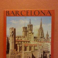 Foglietti di turismo: BARCELONA. ROMANA Y MEDIEVAL. OFICINAS MUNICIPALES DE TURISMO E INFORMACION. Lote 222352947